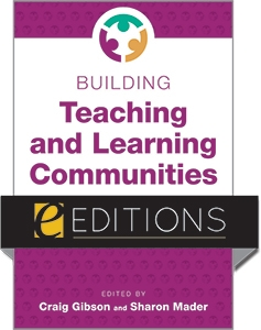 Cover of Gibson's new book Building Teaching and Learning Communities