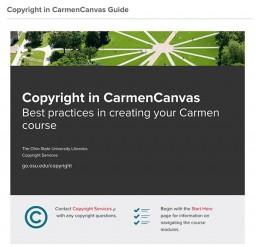 Copyright in CarmenCanvas Guide